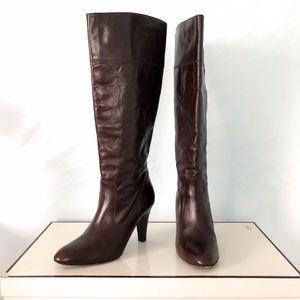 COACH Millie Signature Leather Boots, Size 9.5